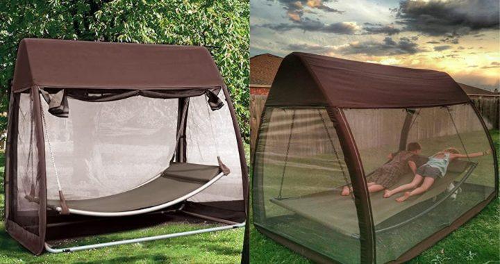 Camping de aventura: Esta es la tienda ideal con una hamaca interior y mosquitero incluido