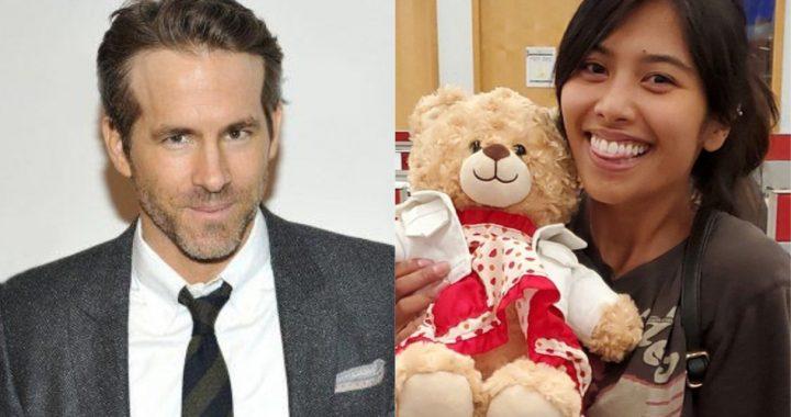 Ryan Reynolds se sumó a la noble causa para encontrar un oso de peluche robado