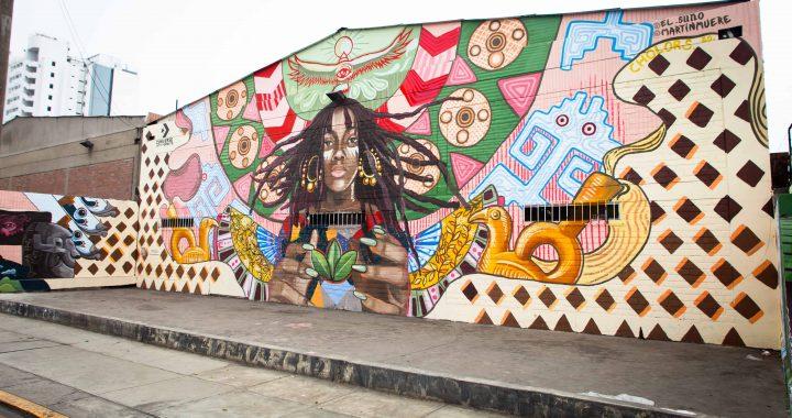 Artistas pintan innovador mural que refleja la identidad peruana en el marco del Converse City Forest
