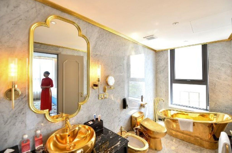 ¡A todo lujo! Hotel chapado en oro es inaugurado en Vietnam