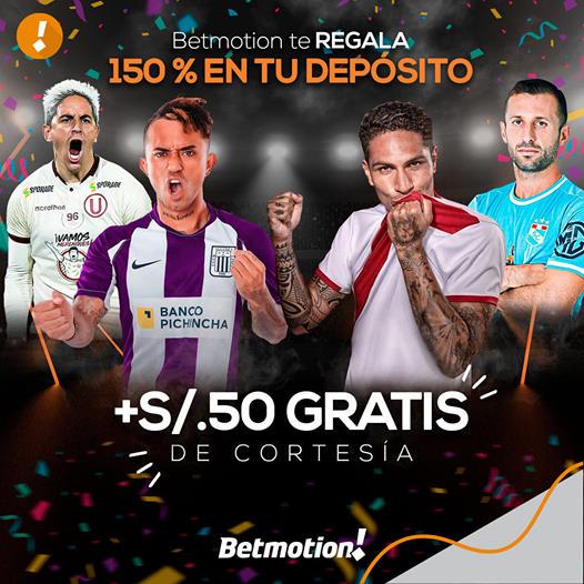 Betmotion ofrefe un bono exclusivo a sus nuevos usuarios en Perú