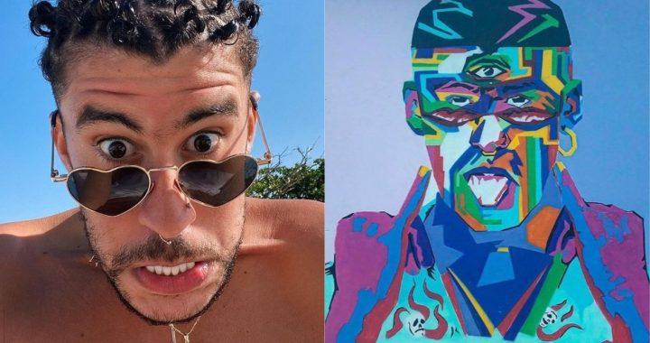 Artista restaura mural dañado de Bad Bunny en Puerto Rico