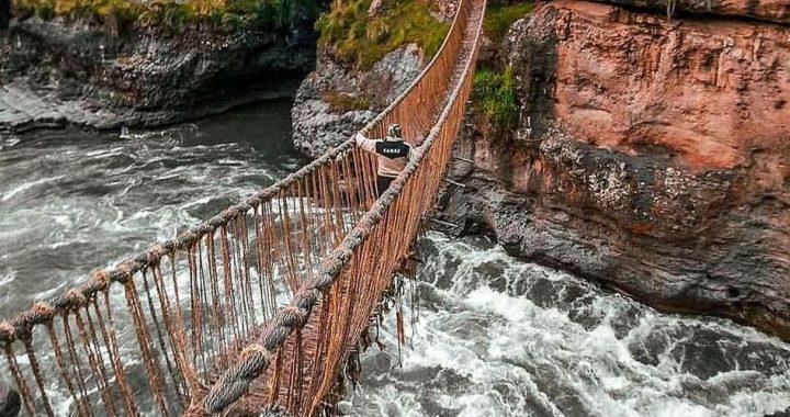 """Perú: Pobladores reconstruirán el """"Qeswachaka"""", último puente colgante inca"""