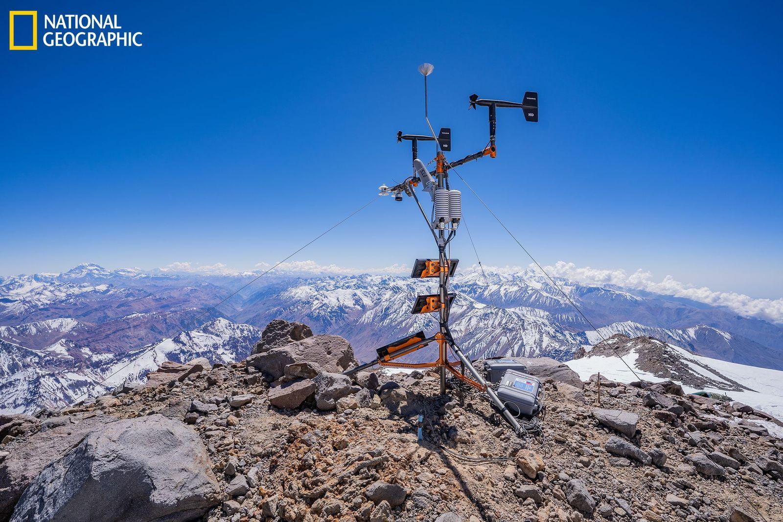 NatGeo anunció la instalación de la estación meteorológica más alta del mundo