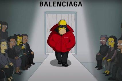 Los Simpsons estuvieron presente en la nueva colección de Balenciaga